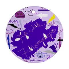 Life With Fibro2 Round Ornament by FunWithFibro