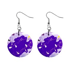 Life With Fibro2 Mini Button Earrings by FunWithFibro