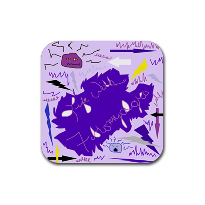 Life With Fibro2 Drink Coasters 4 Pack (Square)