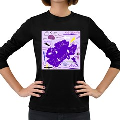 Life With Fibro2 Women s Long Sleeve T Shirt (dark Colored) by FunWithFibro