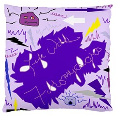 Life With Fibro2 Large Cushion Case (two Sided)  by FunWithFibro