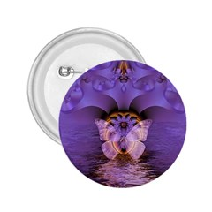 Artsy Purple Awareness Butterfly 2 25  Button by FunWithFibro