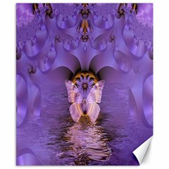 Artsy Purple Awareness Butterfly Canvas 8  X 10  (unframed) by FunWithFibro
