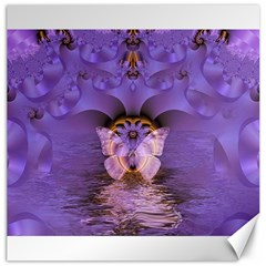 Artsy Purple Awareness Butterfly Canvas 12  X 12  (unframed) by FunWithFibro