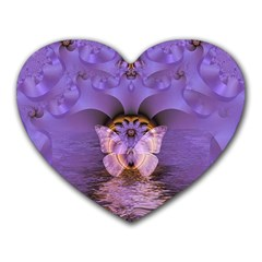 Artsy Purple Awareness Butterfly Mouse Pad (heart) by FunWithFibro