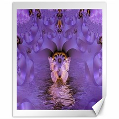 Artsy Purple Awareness Butterfly Canvas 11  X 14  (unframed) by FunWithFibro