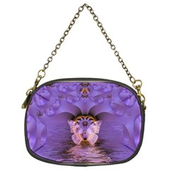 Artsy Purple Awareness Butterfly Chain Purse (two Sided)  by FunWithFibro