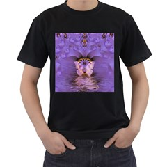 Artsy Purple Awareness Butterfly Men s T Shirt (black) by FunWithFibro
