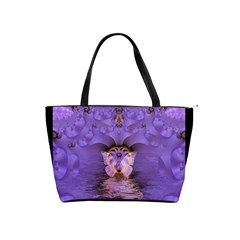 Artsy Purple Awareness Butterfly Large Shoulder Bag by FunWithFibro