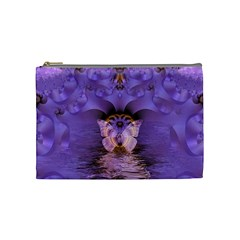 Artsy Purple Awareness Butterfly Cosmetic Bag (medium) by FunWithFibro