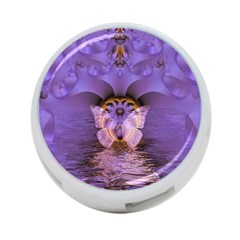 Artsy Purple Awareness Butterfly 4 Port Usb Hub (one Side) by FunWithFibro