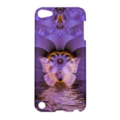 Artsy Purple Awareness Butterfly Apple Ipod Touch 5 Hardshell Case by FunWithFibro