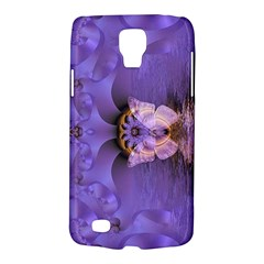 Artsy Purple Awareness Butterfly Samsung Galaxy S4 Active (i9295) Hardshell Case by FunWithFibro