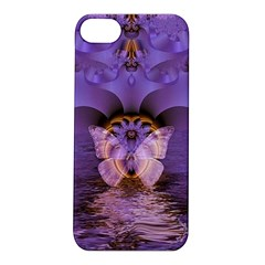 Artsy Purple Awareness Butterfly Apple Iphone 5s Hardshell Case by FunWithFibro