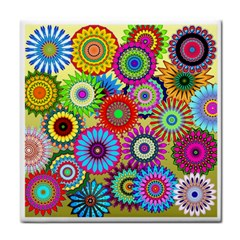 Psychedelic Flowers Face Towel by StuffOrSomething