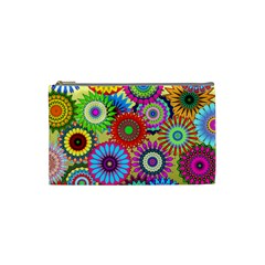 Psychedelic Flowers Cosmetic Bag (small) by StuffOrSomething