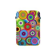 Psychedelic Flowers Apple Ipad Mini Protective Sleeve by StuffOrSomething