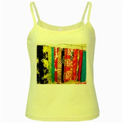 Sarongs(lavalava) Yellow Spaghetti Tank