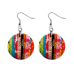 Sarongs(lavalava) Mini Button Earrings