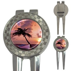 Sunset At The Beach Golf Pitchfork & Ball Marker by StuffOrSomething