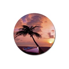 Sunset At The Beach Magnet 3  (round)