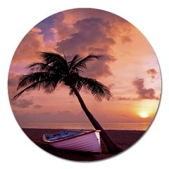 Sunset At The Beach Magnet 5  (round) by StuffOrSomething