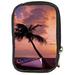 Sunset At The Beach Compact Camera Leather Case by StuffOrSomething