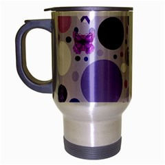 Purple Awareness Dots Travel Mug (silver Gray) by FunWithFibro