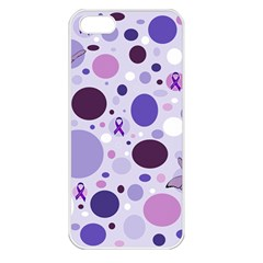Purple Awareness Dots Apple Iphone 5 Seamless Case (white) by FunWithFibro