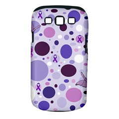 Purple Awareness Dots Samsung Galaxy S Iii Classic Hardshell Case (pc+silicone) by FunWithFibro