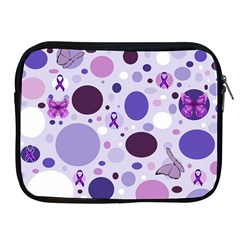Purple Awareness Dots Apple Ipad Zippered Sleeve by FunWithFibro