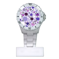 Purple Awareness Dots Nurses Watch by FunWithFibro