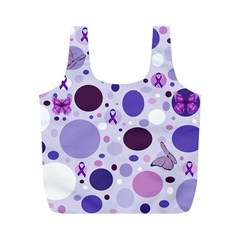 Purple Awareness Dots Reusable Bag (m) by FunWithFibro
