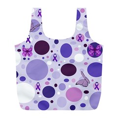 Purple Awareness Dots Reusable Bag (l) by FunWithFibro
