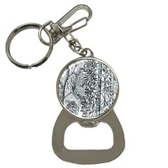 castle Yard In Winter  By Ave Hurley Of Artrevu   Bottle Opener Key Chain by ArtRave2