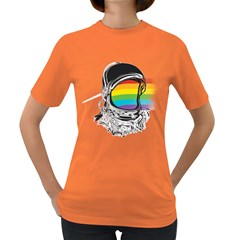 The Darkside Of The Astronaut Women s T Shirt (colored)