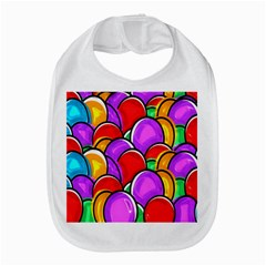 Colored Easter Eggs Bib by StuffOrSomething
