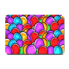 Colored Easter Eggs Small Door Mat by StuffOrSomething