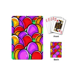 Colored Easter Eggs Playing Cards (mini) by StuffOrSomething