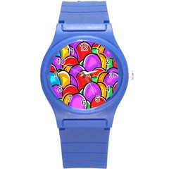 Colored Easter Eggs Plastic Sport Watch (small) by StuffOrSomething