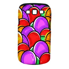 Colored Easter Eggs Samsung Galaxy S Iii Classic Hardshell Case (pc+silicone) by StuffOrSomething