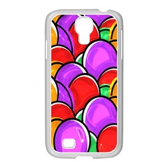 Colored Easter Eggs Samsung Galaxy S4 I9500/ I9505 Case (white) by StuffOrSomething