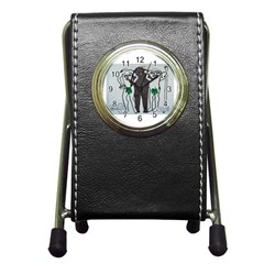 Legends & Truth Stationery Holder Clock by creationtruth