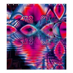 Cosmic Heart Of Fire, Abstract Crystal Palace Shower Curtain 66  X 72  (large) by DianeClancy