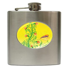 Whimsical Tulips Hip Flask by StuffOrSomething
