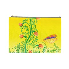 Whimsical Tulips Cosmetic Bag (large) by StuffOrSomething