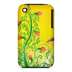 Whimsical Tulips Apple Iphone 3g/3gs Hardshell Case (pc+silicone) by StuffOrSomething