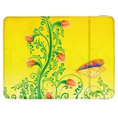 Whimsical Tulips Samsung Galaxy Tab 7  P1000 Flip Case by StuffOrSomething