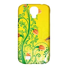 Whimsical Tulips Samsung Galaxy S4 Classic Hardshell Case (pc+silicone) by StuffOrSomething