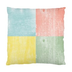 Pastel Textured Squares Cushion Case (two Sided)  by StuffOrSomething